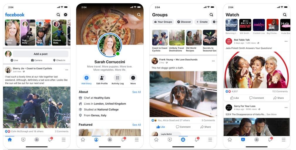Nowy wygląd Facebooka w aplikacji oraz na desktopach