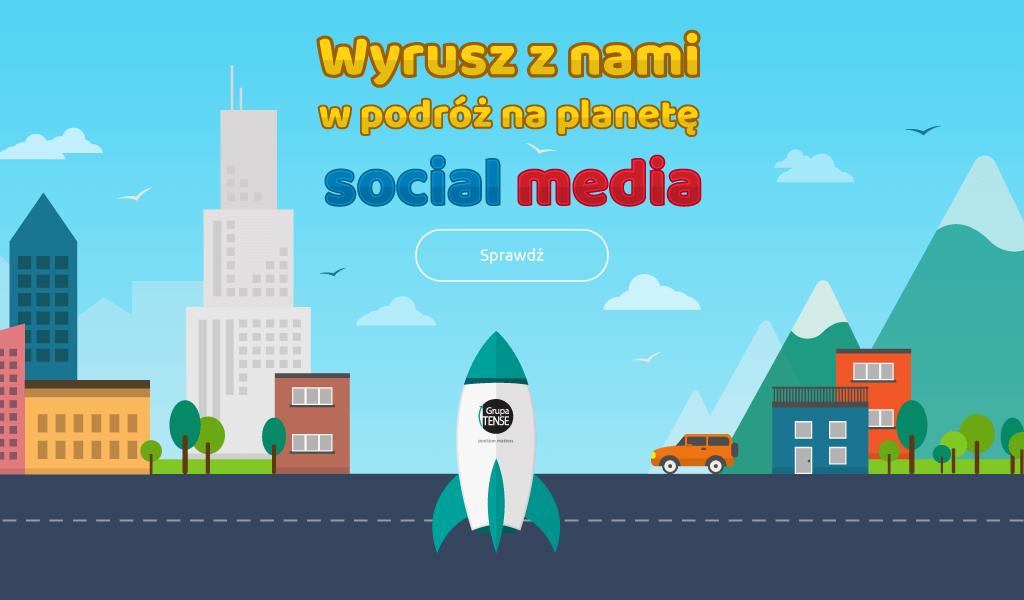 wirtualna rakieta kosmiczna prowadząca na dowolną wirtualną planetę w postaci kanałów social media