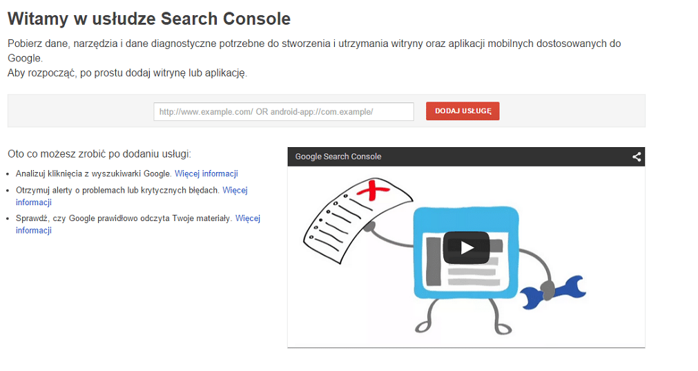 Weryfikacja domeny w search console grupa tense for Search console