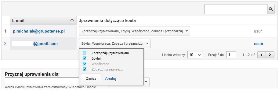 Weryfikacja - Google Analytics2