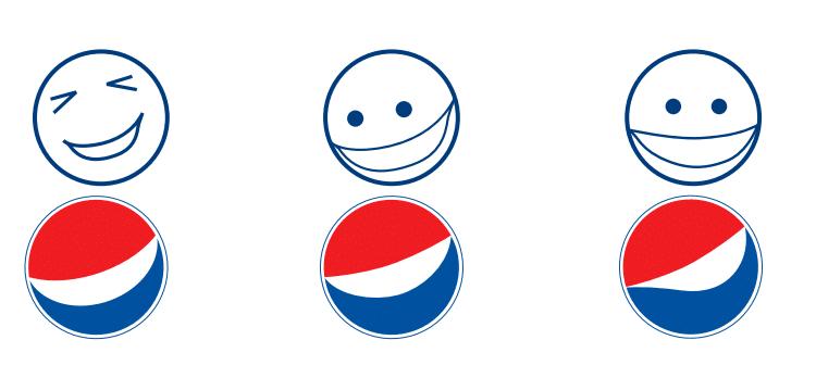 Pepsi geneza logo emotikony