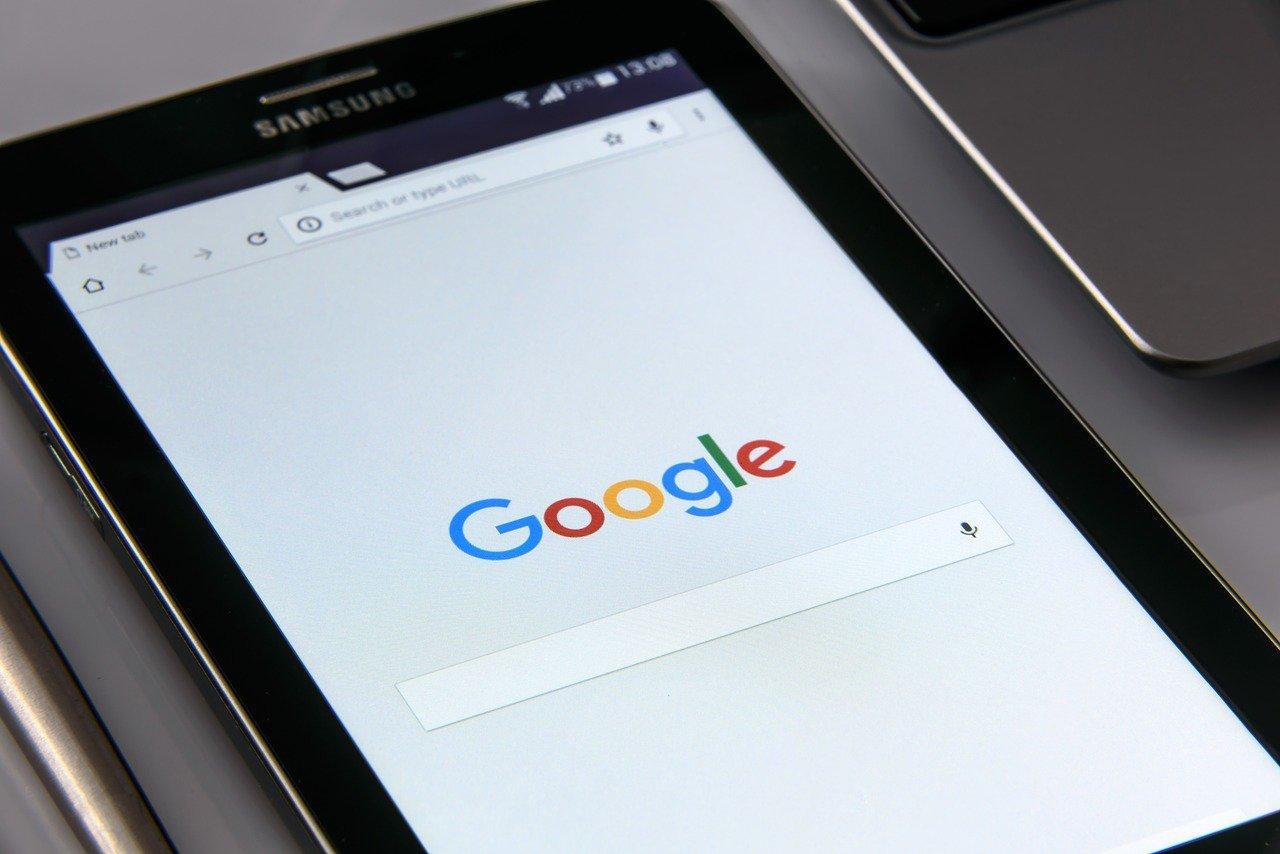 google na tablecie