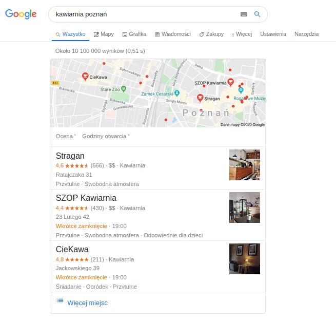 Dlaczego warto znaleźć się w Google Moja Firma?