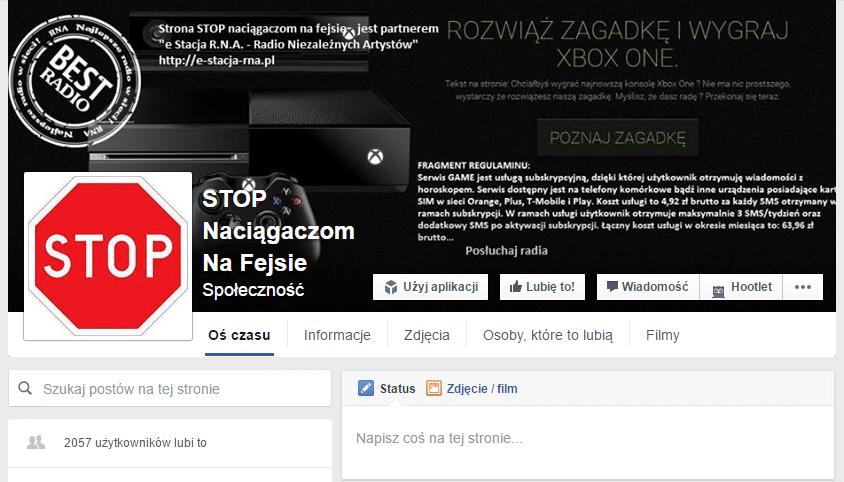 STOP naciągaczom na Fb