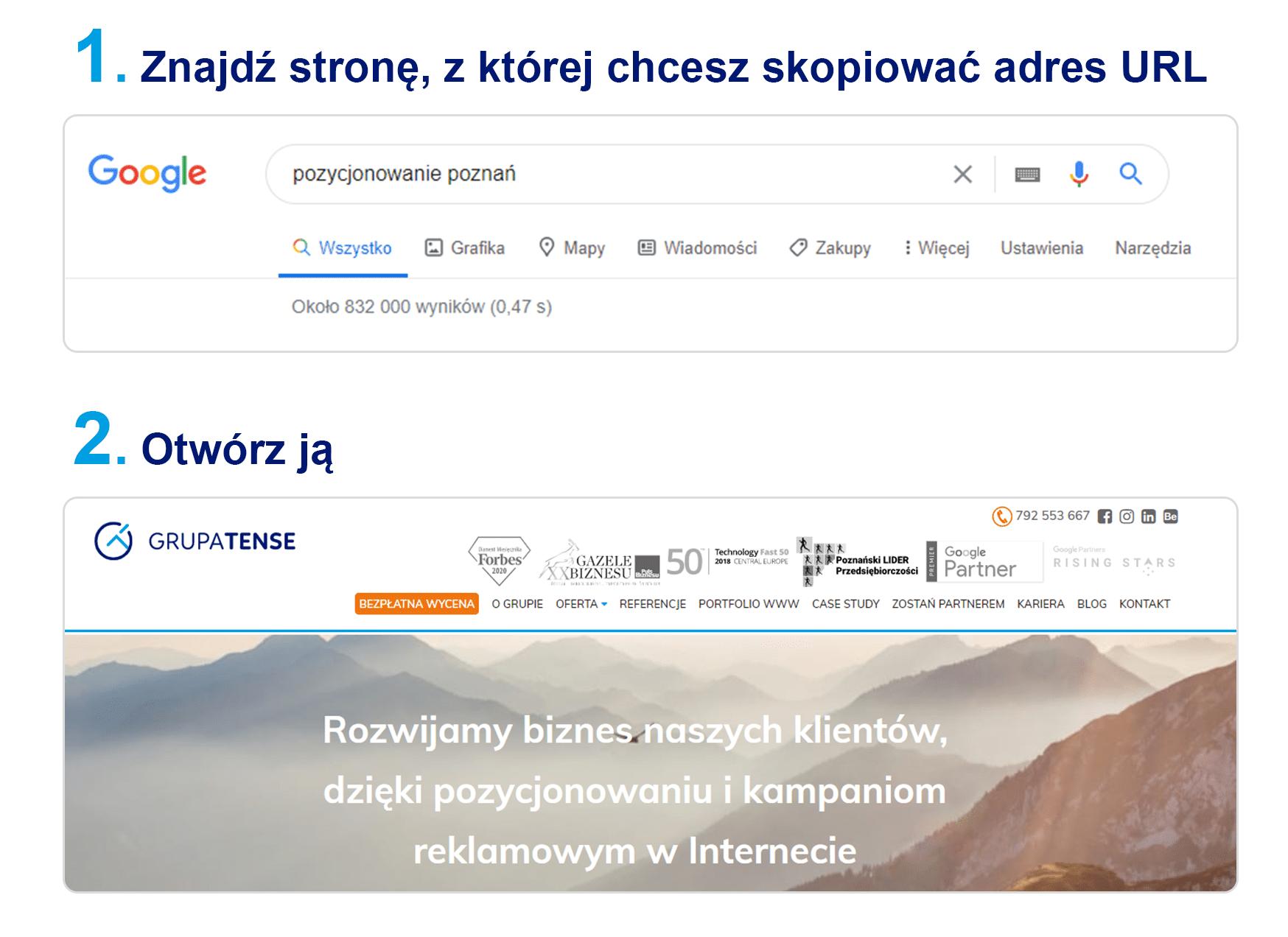 Jak odnaleźć adres URL?