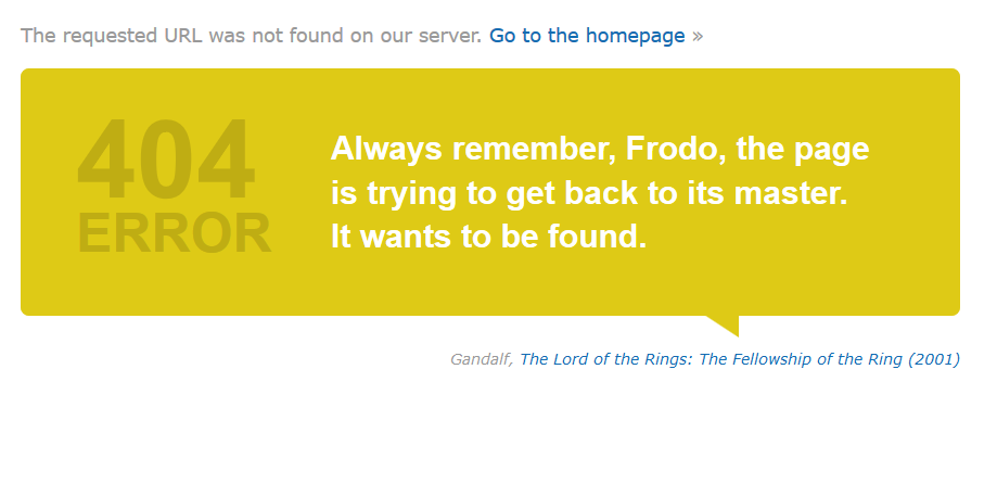 błąd 404 IMDB