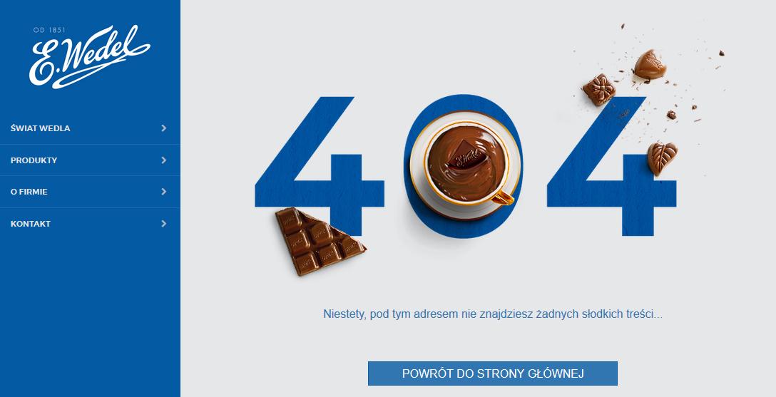 błąd 404 Wedel