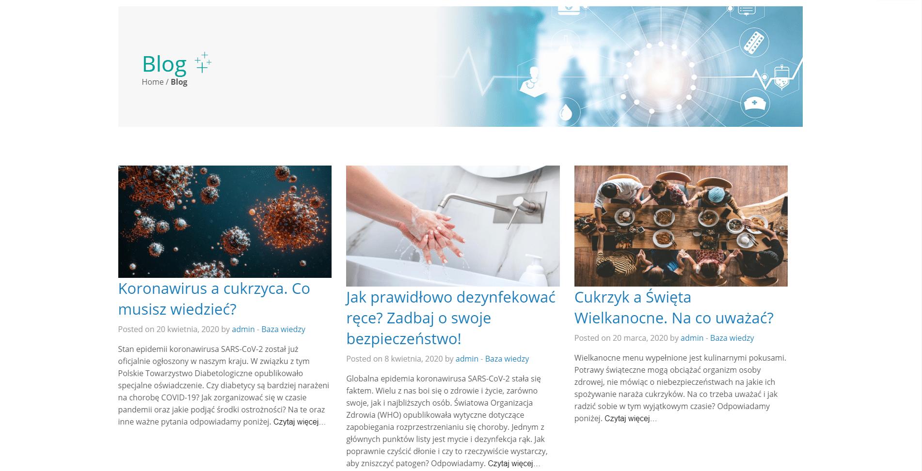 prowadź bloga poruszającego tematy medyczne