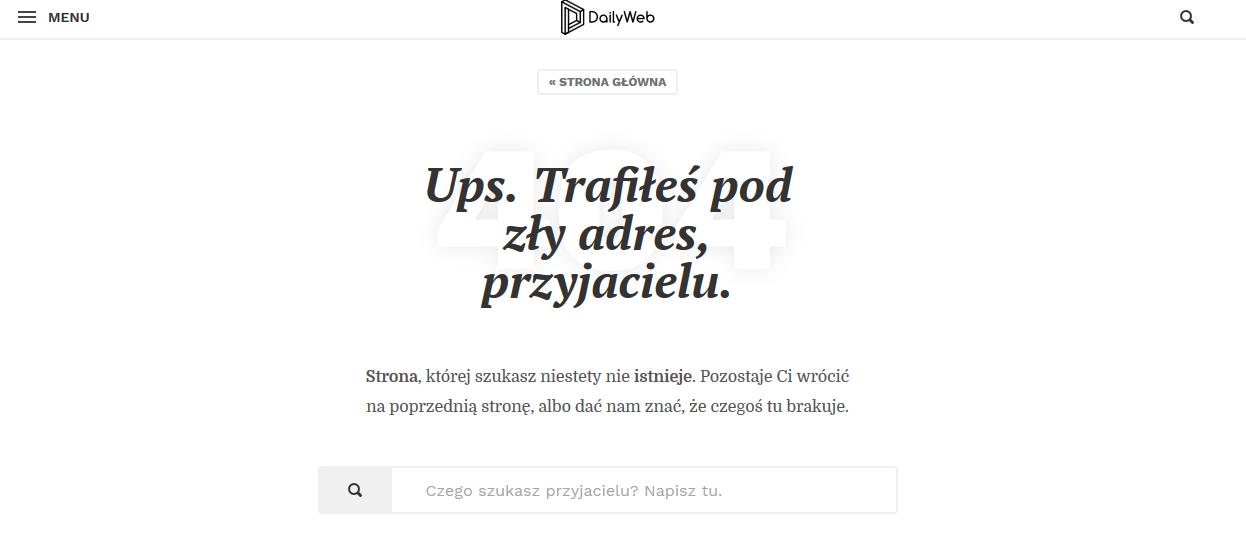 błąd 404 dailyweb