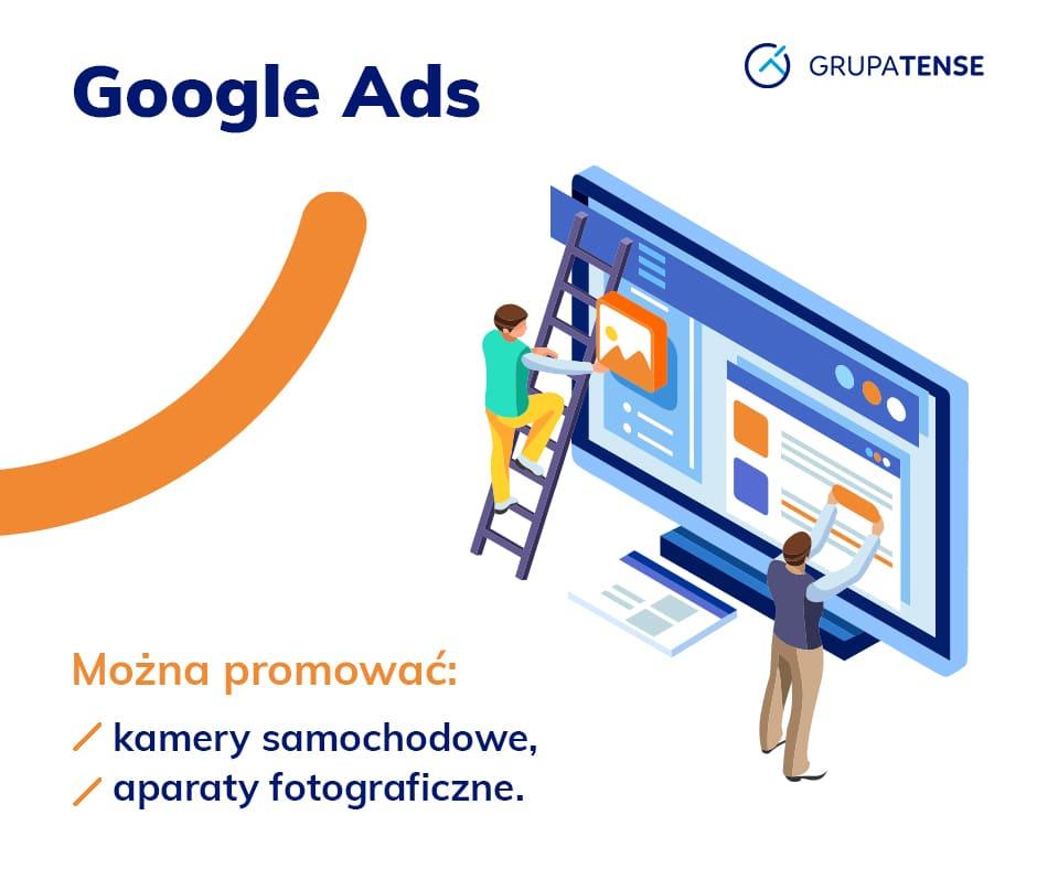 Produkty dozwolone przy promocji Google Ads.