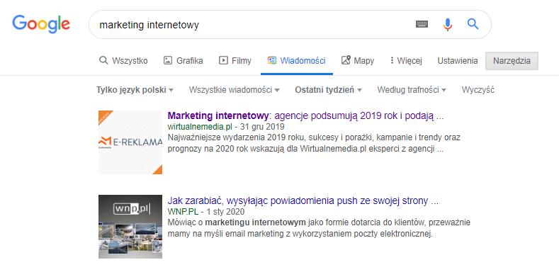 Pomysł na bloga - Google Wiadomości