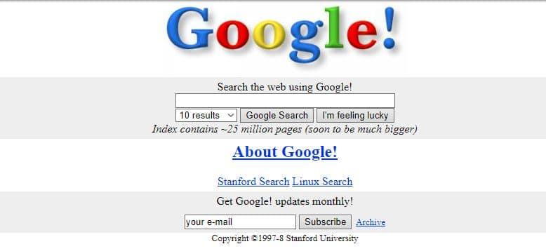stara wersja Google