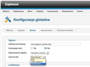 Instalacja certyfikatu SSL - Joomla
