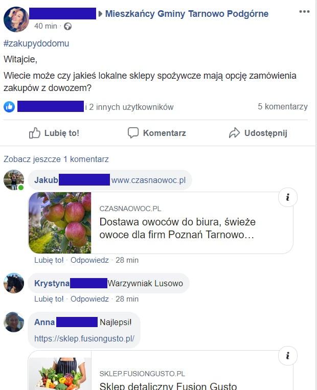 grupy mieszkańców na facebooku