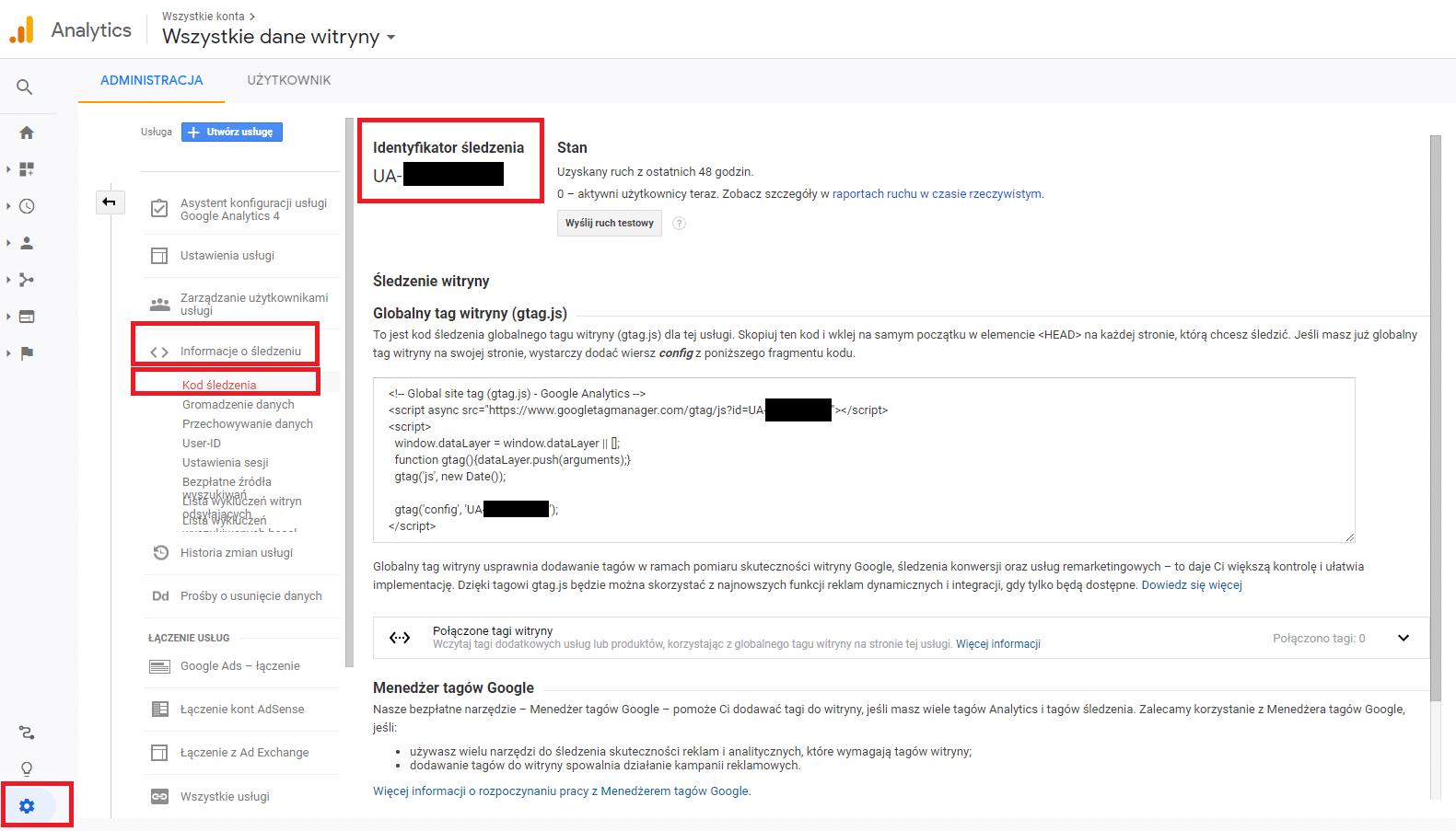 Identyfikator śledzenie w Google Tag Manager