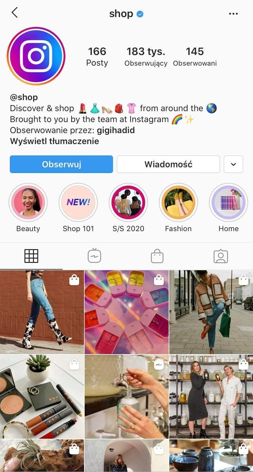 Instagram @shop