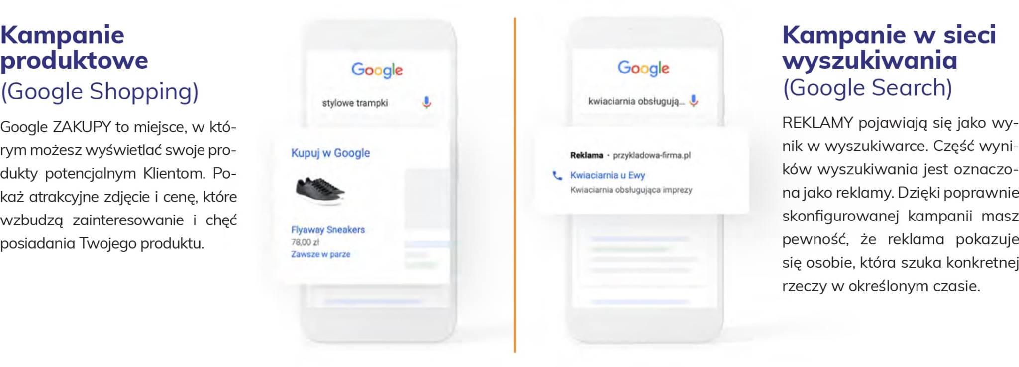 Charakterystyka kampanii produktowych i w sieci wyszukiwania