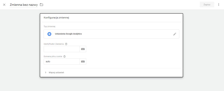 Konfiguracja zmiennej w Google Tag Manager