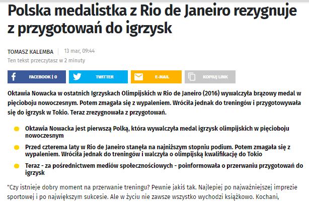 artykuł na portalu onet.pl