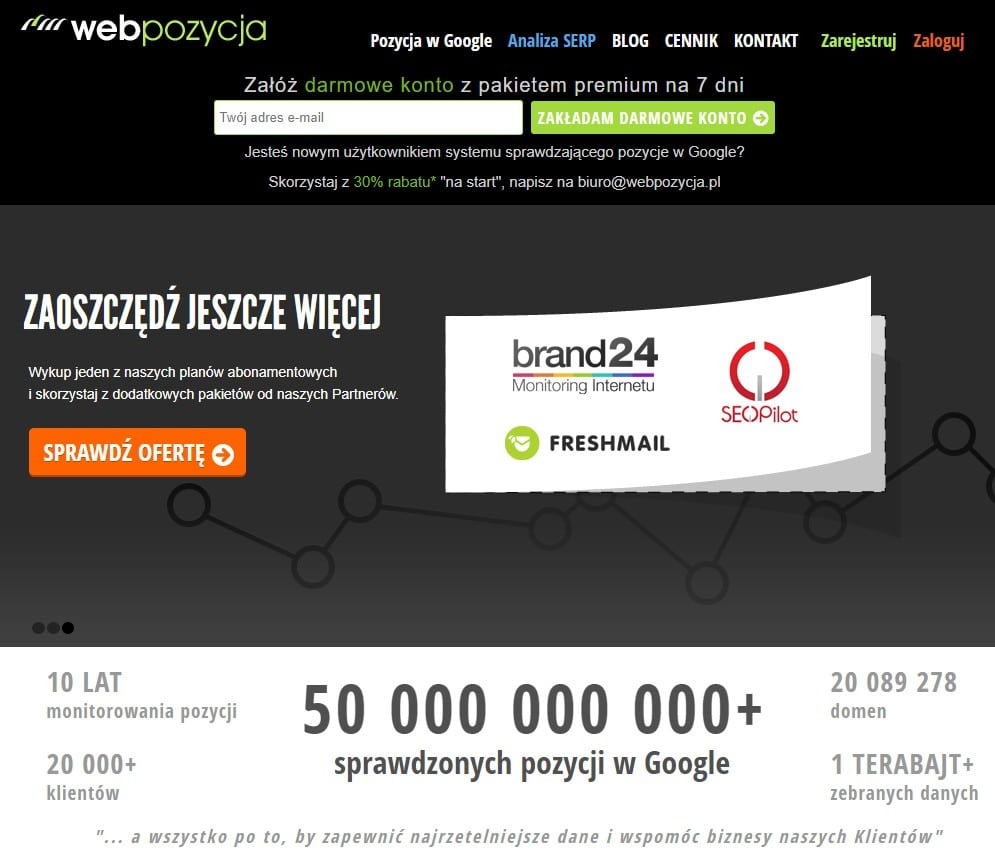 strona główna narzędzia webpozycja