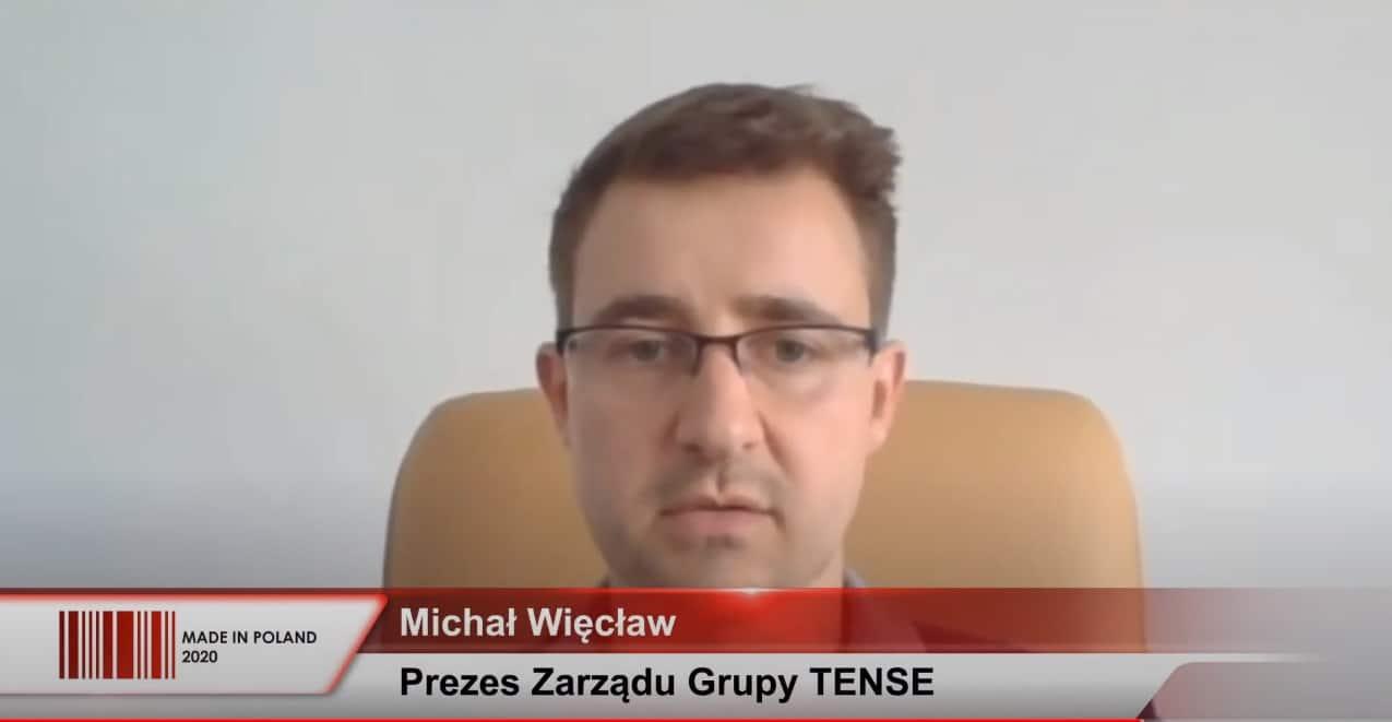 Michał Więcław z Grupy TENSE na Kongresie MADE IN POLAND 2020