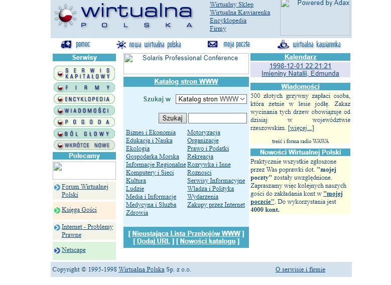 dawna wersja serwisu wirtualnapolska
