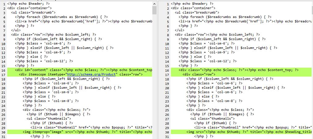 zmiany w kodzie