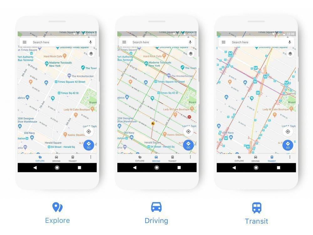 aktualizacja wygladu google maps