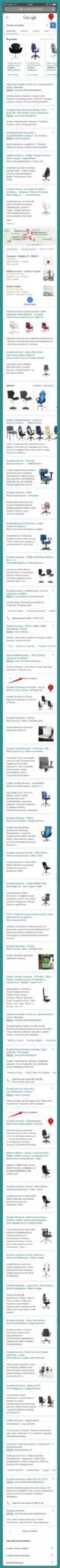 wynik wyników wyszukiwania na urządzeniach mobilnych dla zapytania krzesła obrotowe w Google
