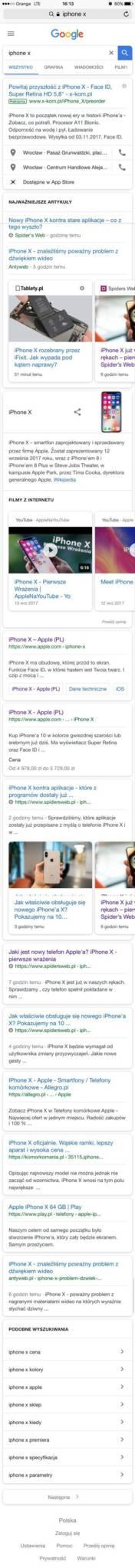mobilne SERP po zmianach