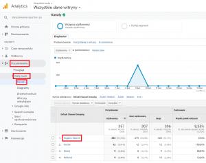 Pierwszy sposób sprawdzenia obecności traffic botów w narzędziu Google Analytics