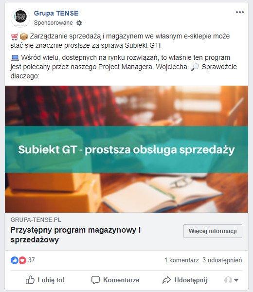 Skuteczna reklama na Facebooku - program sprzedażowy