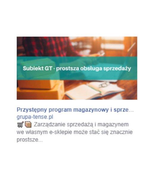 Kampania Facebook Ads - przykład