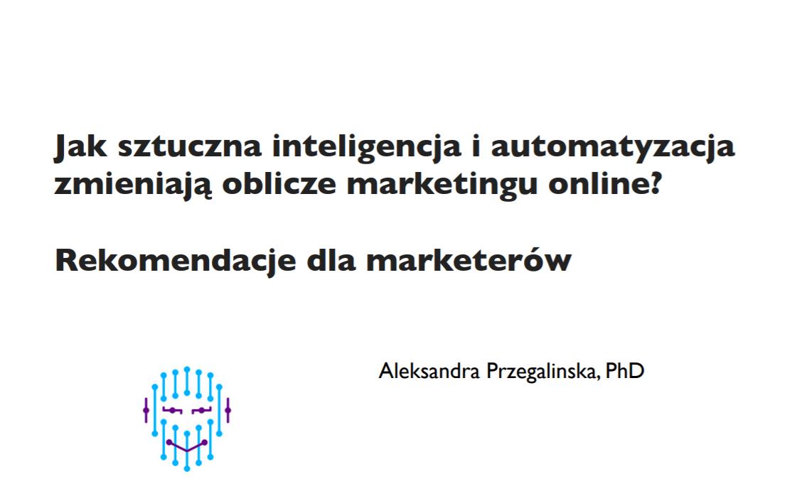 Aleksandra Przegalińska Online Marketing