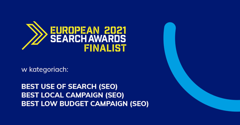 Mamy trzy nominacje do European Search Awards 2021!