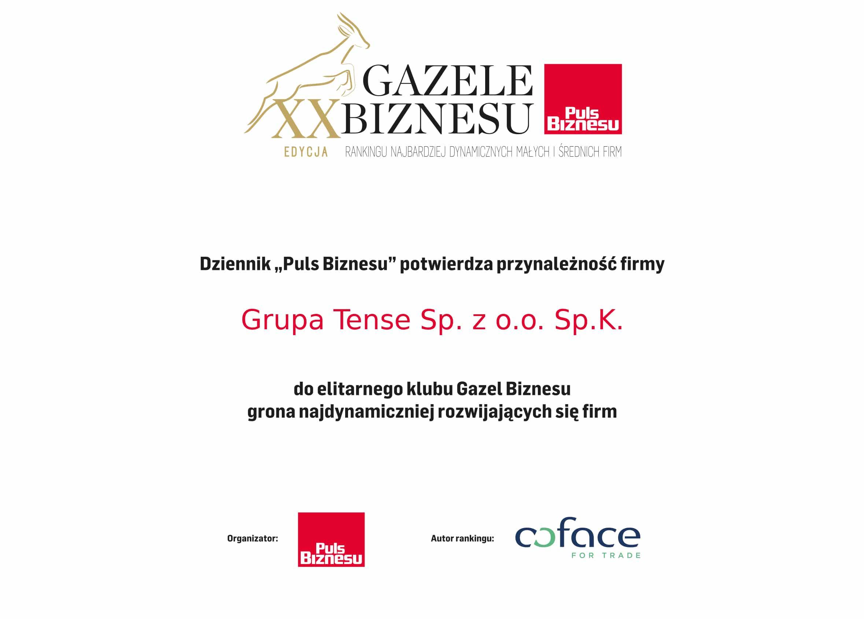 Gazele Biznesu dla Grupy TENSE