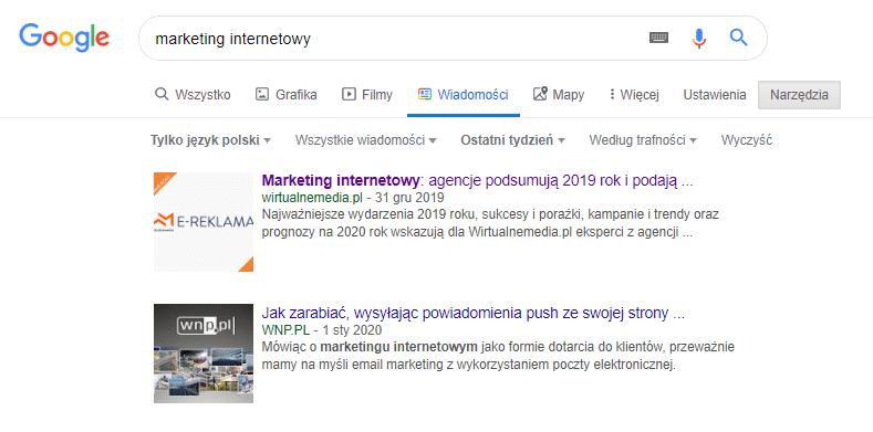 Google Wiadomości