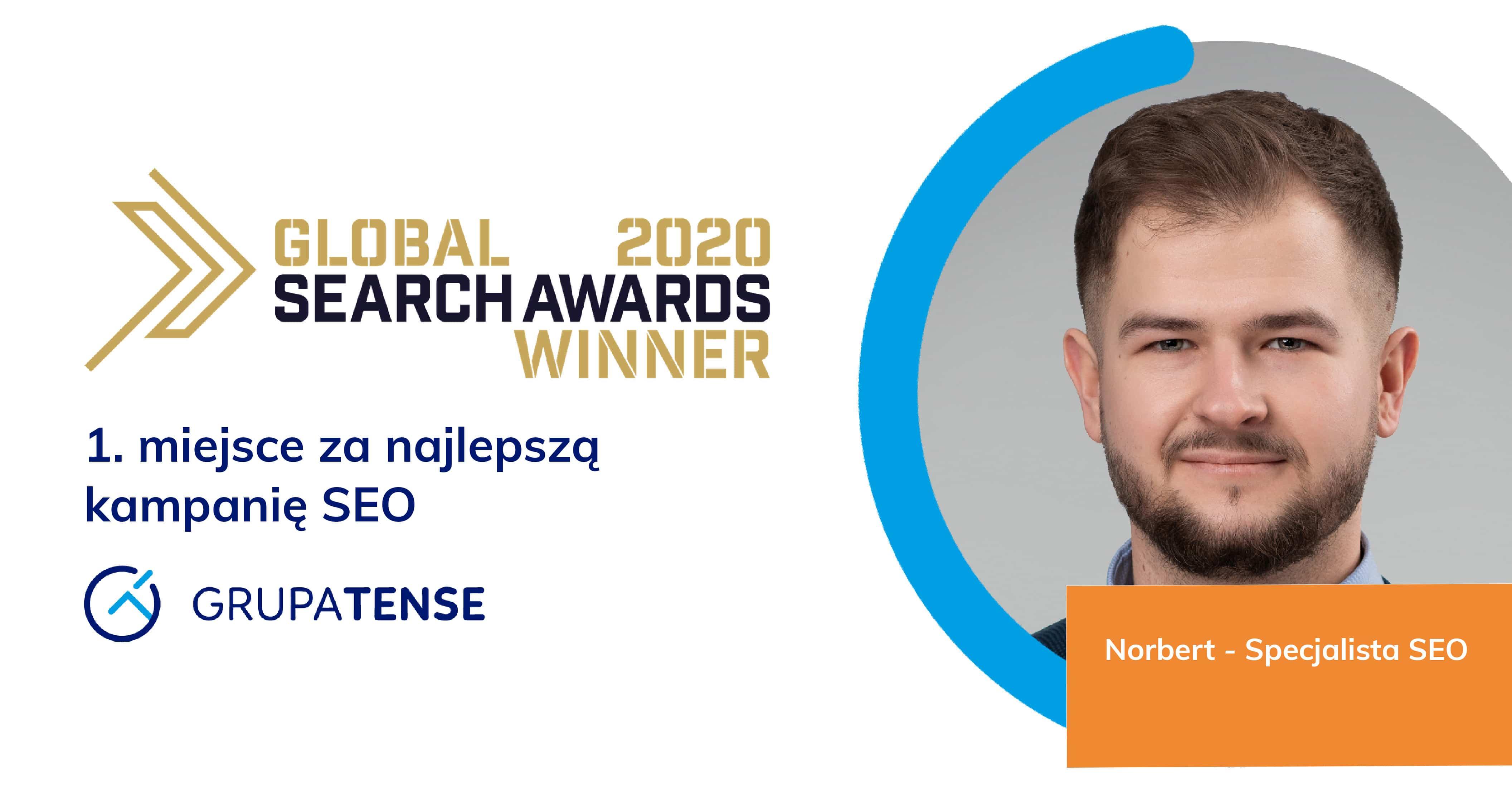 Nagroda dla Grupy TENSE w Global Search Awards