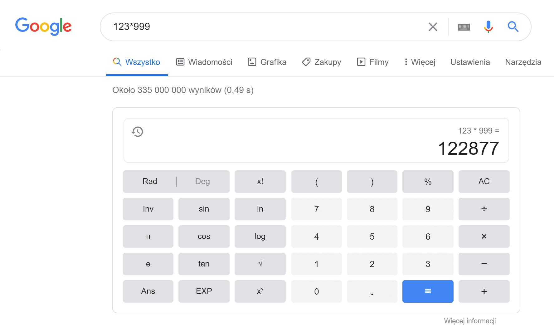 kalkulator jako przykład direct answear