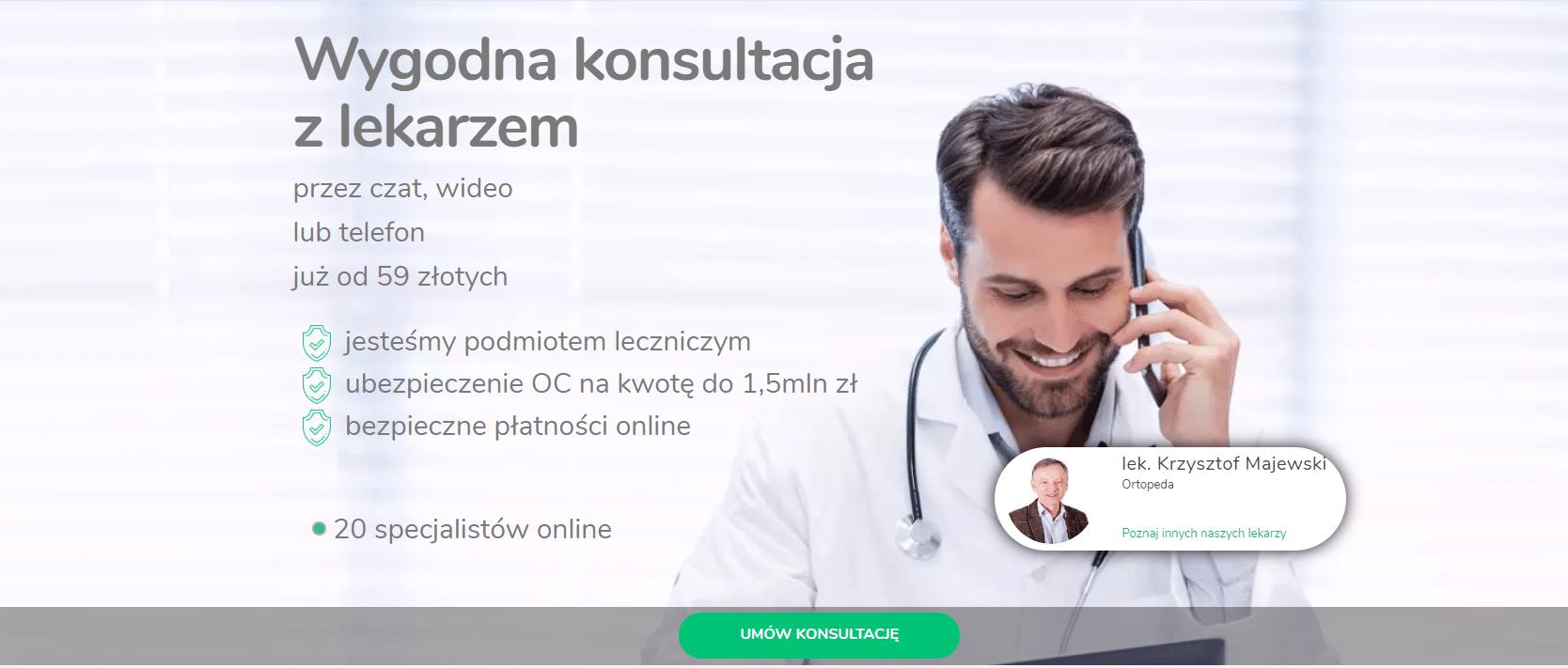 wprowadź konsultację online z lekarzem