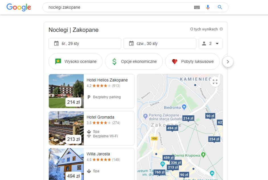 mapki Google