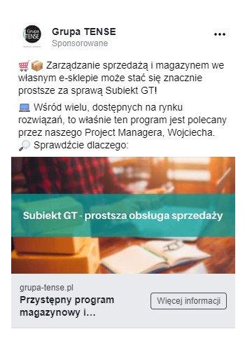 Umiejscowienie reklamy na Facebooku