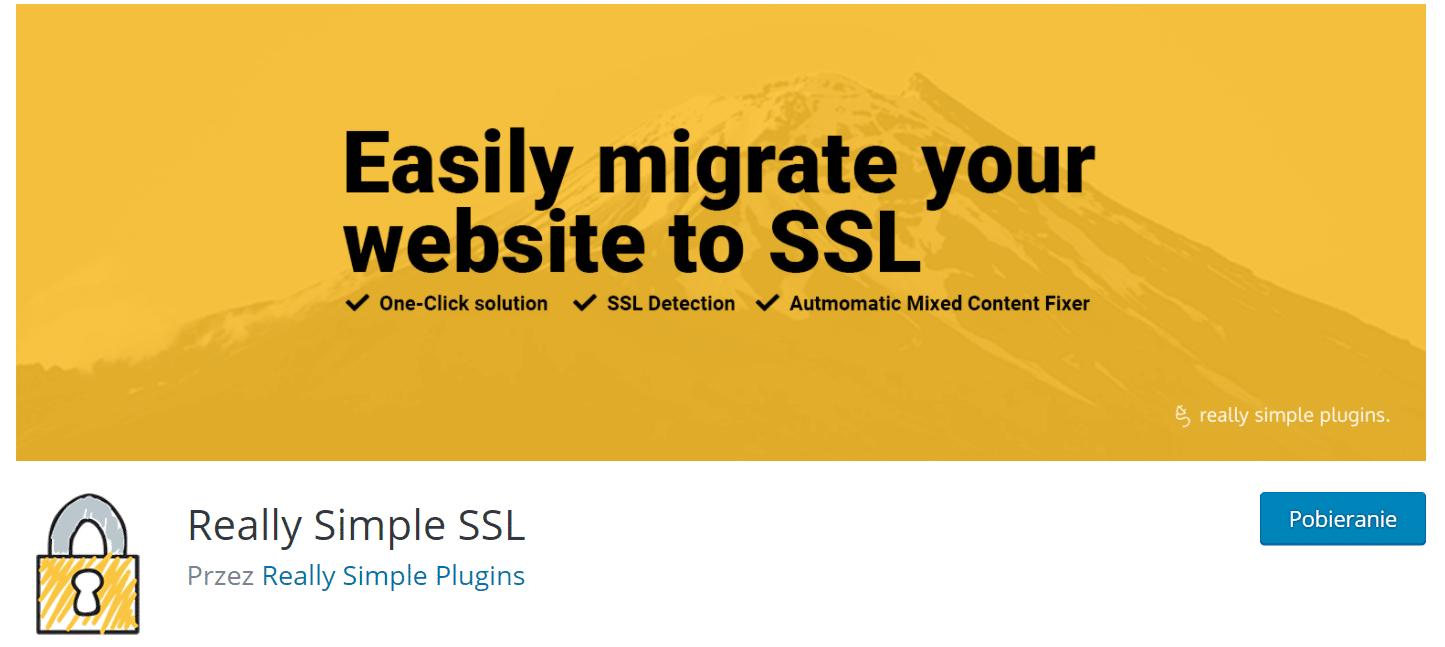 Instalacja wtyczki WordpPress Realy Simple SSL