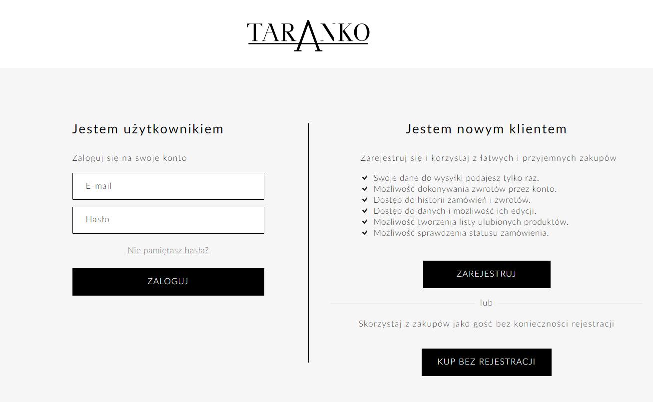 Dodaj realizację zamówienia bez rejestracji