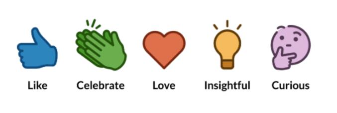 reakcje na LinkedIn