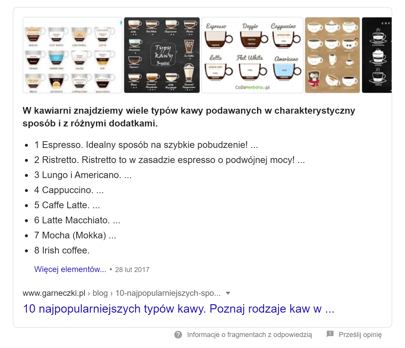 featured snippet jako wynik 0